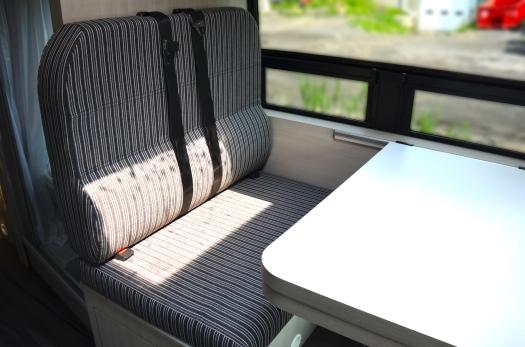 Panoramic RV - Striped bench #1