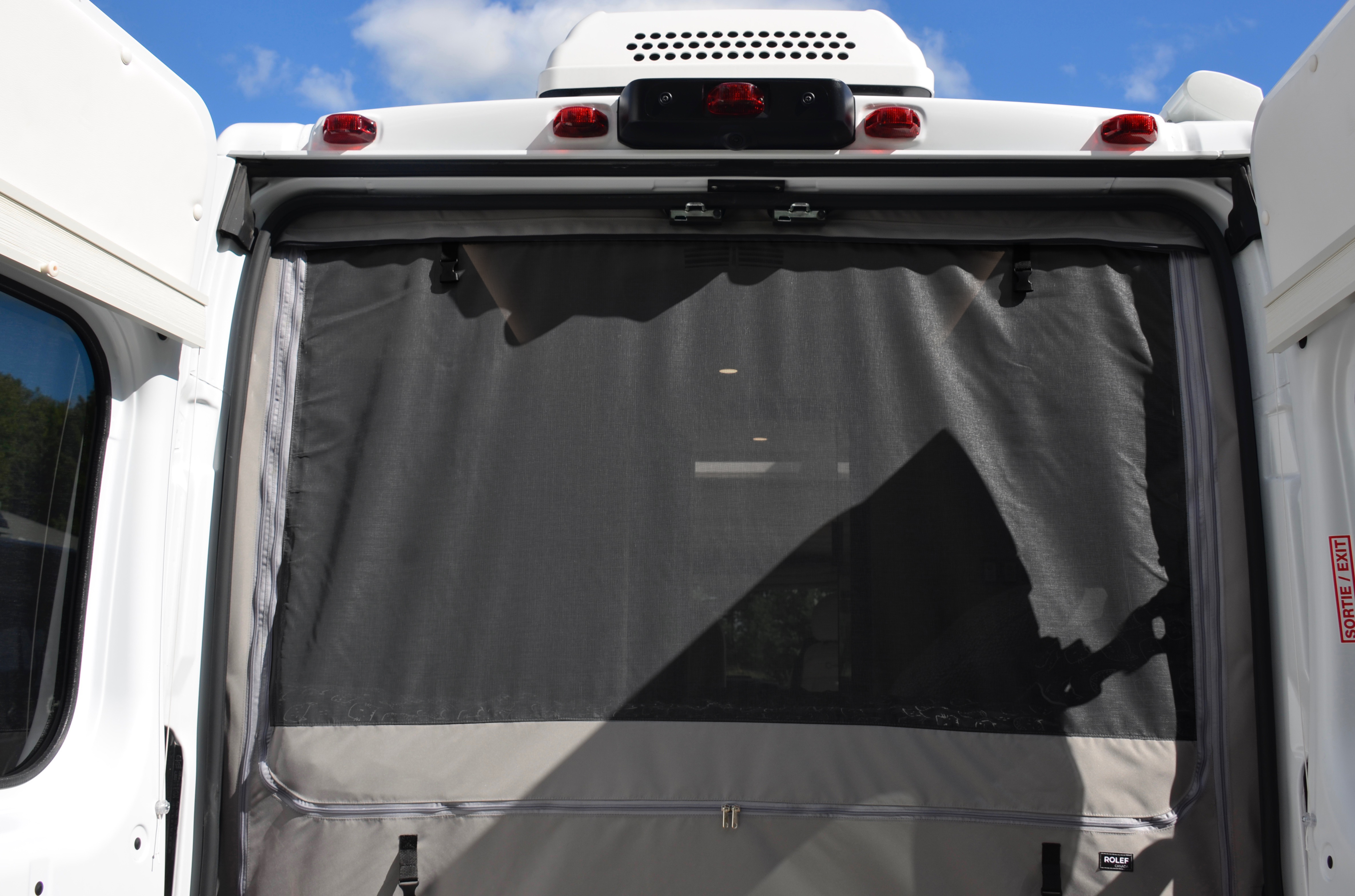 Panoramic RV - Rear fly screen open - 2